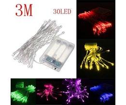 LED-Illuminations 30 Meter Batterien