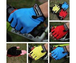 Welloo Radfahren Handschuhe Mit Fingern Und Halbe Gel-Füllung