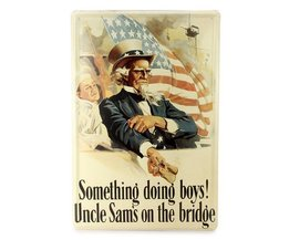 Vintage-Metallplatten Mit Uncle Sam