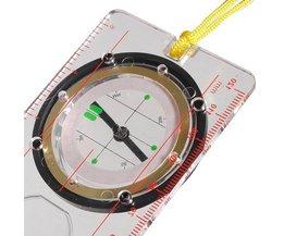 Flüssiges Kompass Mit Lineal, Winkelmesser Und Lupe