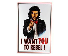 Metall-Plakat: I Want You To Rebel