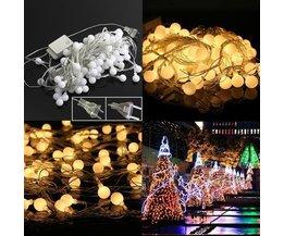 Weihnachtslichter 10 Meter LED-Kugeln