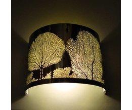 Weinlese-Schlafzimmer-Lampe Edelstahl