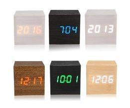 Holz Digitale LED-Uhr