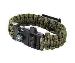 Paracord Überlebens-Armband Mit Öffner Und Kompass
