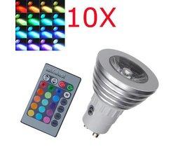 1X GU10 RGB Farbwechsel LED-Birnen