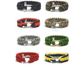 Überlebens-Armband Mit Verschiedenen Farben