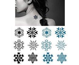 Wasserdichte Schneeflocke Scheibe Tattoos