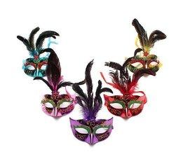 Venezianische Maske Mit Federn