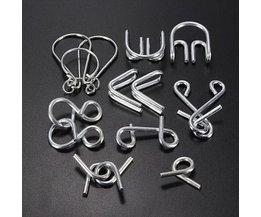 Metall-Puzzles 7 Stück