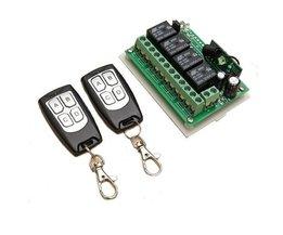 12V 4CH 315Mhz Drahtloser Fernschalter Mit 2-Sender