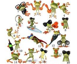 3D-Auto-Aufkleber Ein Frosch