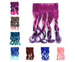 Farbige Curly Clip-In Haarverlängerungen