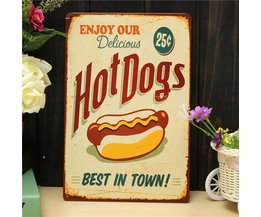 Retro Werbung Hot Dogs