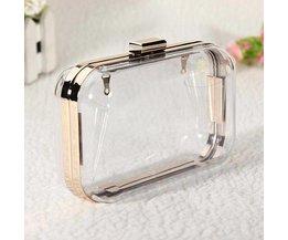 Transparente Clutch Mit Metallkette