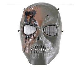 Schädel-Maske Für Paintball, Softair Und Militärische Nutzung