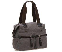 Unisex Handtasche Mit Vielen Taschen
