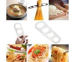 Spaghetti Meter Edelstahl Poliert