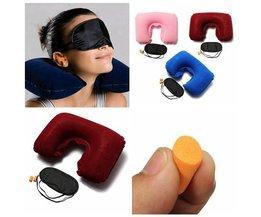 Aufblasbare Reisekissen Mit Augenmaske Und Ohrhörer