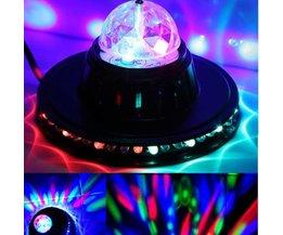 Disco-Kugel Mit LED-Leuchten Und Rotary