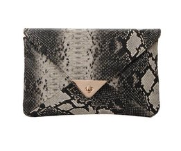 Clutch-Bag Snake Print