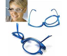 Blau Make-Up Brille