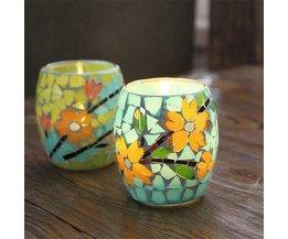 Kerzenhalter Mit Mosaik