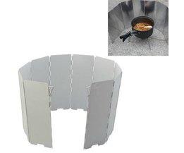 Aluminium Grillwindschutzscheibe