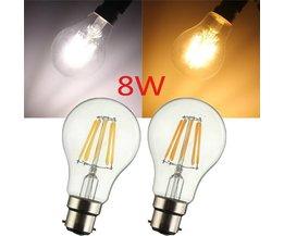 Vintage B22 A60 LED-Lampe 8W