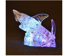 3D-Puzzle Hai Mit Crystal Light