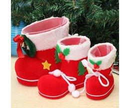 Weihnachtsstiefel Zu Tun In Süßigkeiten Und Kleine Geschenke