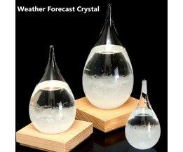 Sturm-Glas In Form Eines Wassertropfens