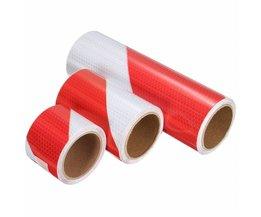 Reflektierendes Band, Rot, Weiß