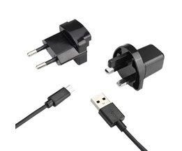 Micro-USB-Ladegerät Mit EU Und UK-Stecker