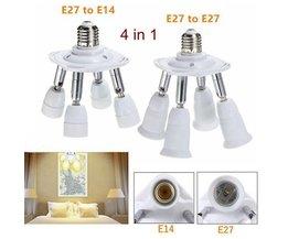 E27 4 In 1 Flexible Lampe Splitter
