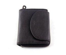 Compact Wallet Mit Zipper