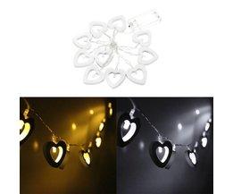LED-Schnur Mit Herzen In Zwei Farben