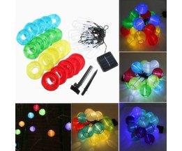 Solar-LED-Laternen-Schnur Mit 20
