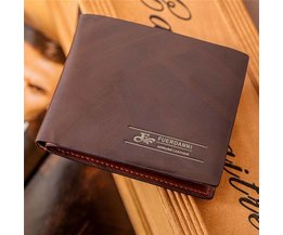 Brown PU Leather Men'S Wallet