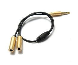 3.5Mm Male To 2 Female Audio Splitter