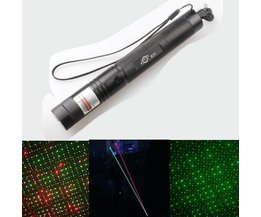 Red And Green Laser Duo Like Breath
