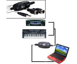 USB MIDI Interface Cable For PC Keyboard