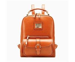 Vintage PU Leather Backpack
