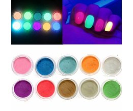 Glow In The Dark Powder For Nail Art (10 Pieces)