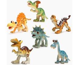 Plastic Dinosaurs Playset For Children 6 Pieces