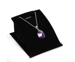Velvet Necklace Jewelry Display Holder