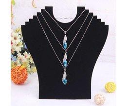 Velvet Bust Necklace Jewelry Holder