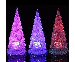 Mini Christmas Tree With Multi-Color LED Lighting