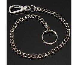 Long Silver Key Chain Metal