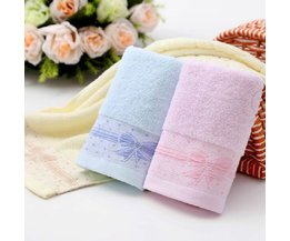 Cotton Towel With Bow Pattern 34 X 74 CM